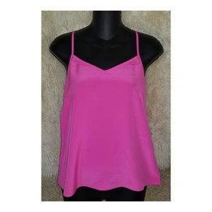 Lilly Pulitzer Dusk Silk Racer Tank Top Pink  XS